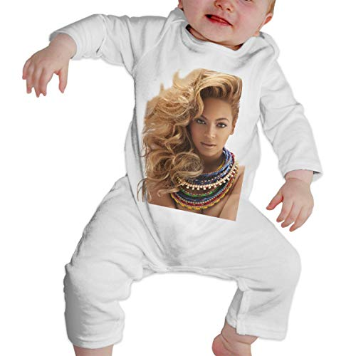 LucyEve Baby Boy Girl Crew Neck Long-Sleeve Bodysuit Beyoncé Next-Door Girl Funny Crawling Clothes White 47