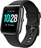 Smart Watch for Android iPhone, Arbily Smartwatch with Heart Rate Monitor Waterproof Swimming Fitness Tracker, Step Counter, Sleep Monitor, Calorie Counter Smart Watches for Men, Women, Kids, Black