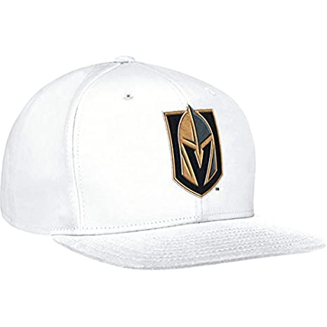 separation shoes 7355f 35964 adidas Las Vegas Golden Knights NHL Snapback Flat Brim Cap (White)