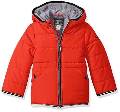 OshKosh B'Gosh Boys' Little Perfect Heavyweight Jacket Coat, Alexander red, 5/6