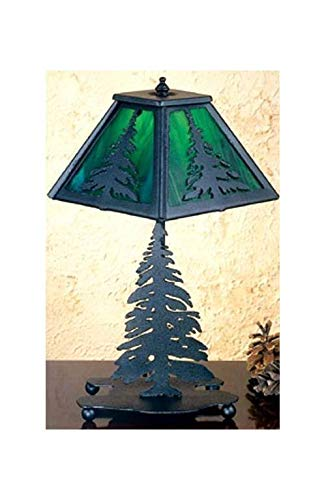 Meyda Tiffany 31402 Tall Pine Accent Lamp, 14'' Height