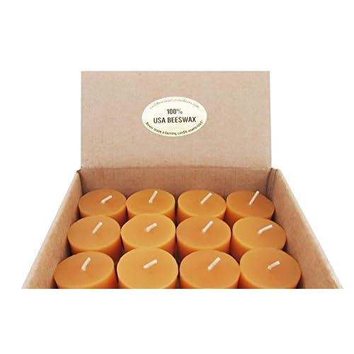 100% USA Beeswax 6 Hour Tealight REFILLS (Box of 6 big image