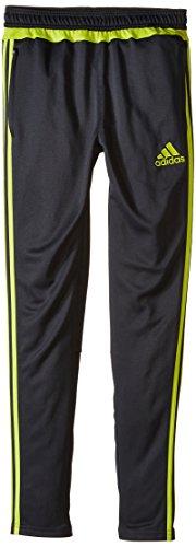adidas Performance Boys Tiro Pants, Dark Grey/Semi Solar Yellow, Large