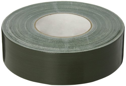 Nashua 357 Polyethylene Coated Cloth Premium Duct Tape, 55m Length x 48mm Width, Olive Drab