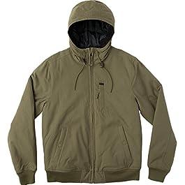 RVCA Men's Hooded Bomber Jacket