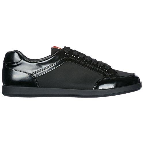 Zapatillas Negro Deporte Prada Hombres De Piel Zapatos En gw8a751