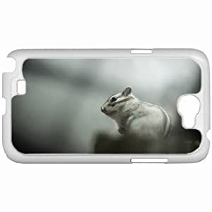 Customized Samsung Galaxy NOTE 2 Case, Diy Custom Samsung Note II Note2 Hard Shell Cover Casesquirrel background White