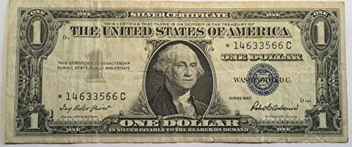 (1957 Series Star ⭐️ Blue Seal $1 One Dollar Silver Certificate US Note)