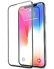 Bovon - Protector Pantalla para iPhone XS/X, Cristal Templado, Anti-Golpe, sin Burbujas, Compatible con 3D Touch, 9H Dureza, Alta Definicion, Transparente