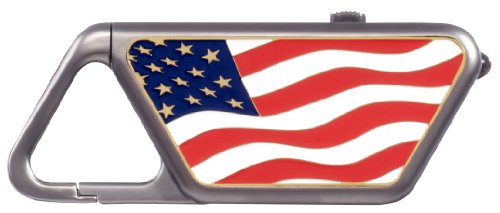ASP Sapphire USB with American Flag (Die Struck Color Fill) Side Panel