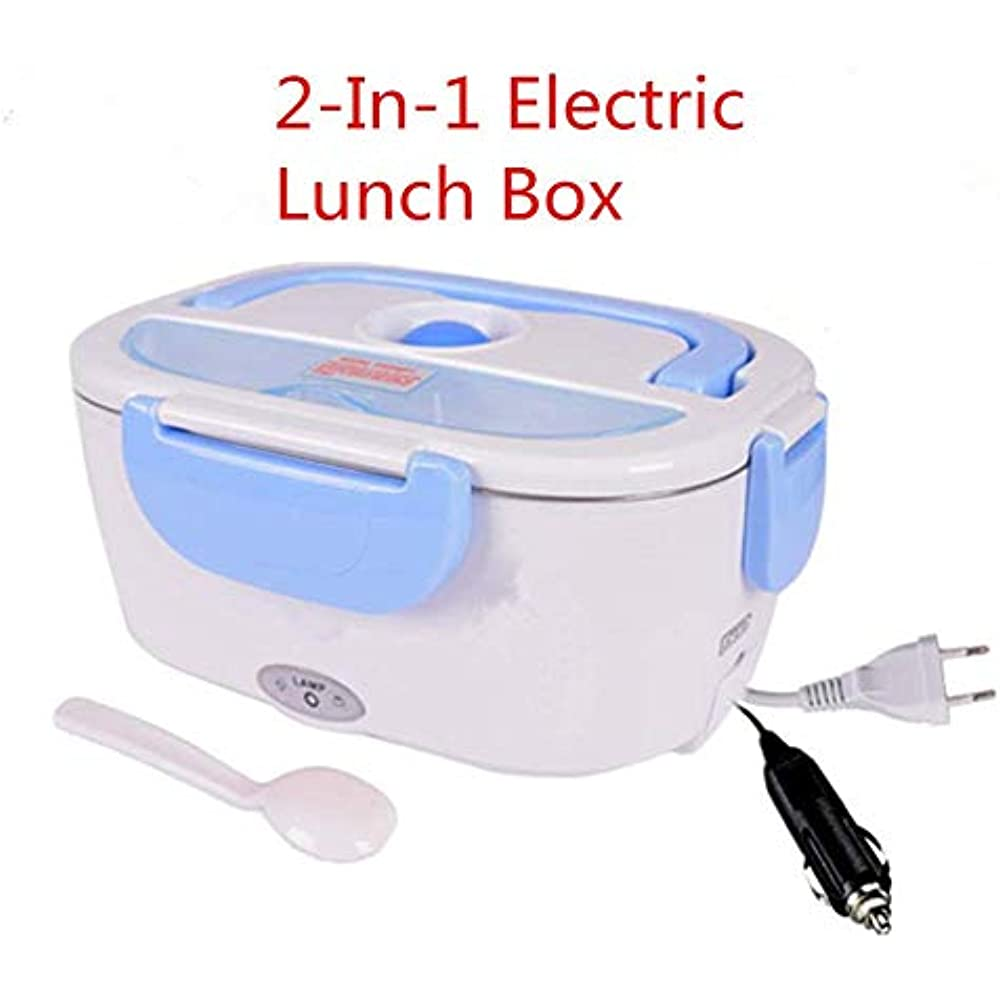 220v 2 in1 Home Electric Thermal Lunch Box  Food Heater Heating Lunch Box 12V