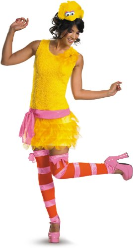Bird Women's Costumes (Disguise Adult Sassy Female Big Bird, Yellow/Orange/Pink, Medium (8-10))