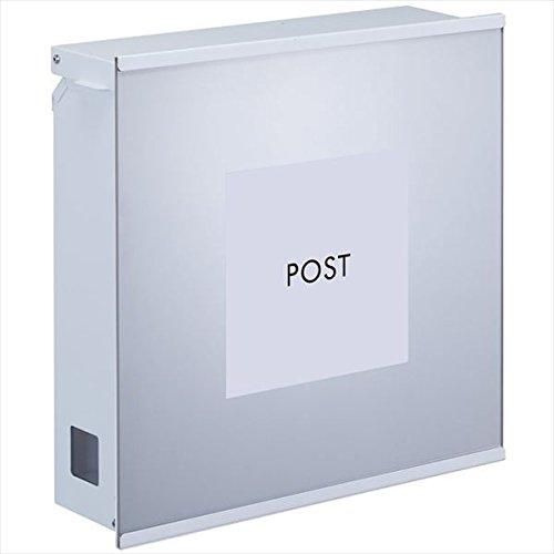 丸三タカギ ポスティーレ アクリルタイプ (壁付け&スタンド取付) 名入れなし PTM-3 アルマイト色 『郵便ポスト』 B07BJX3ZCG 22866