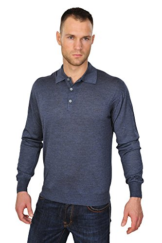 Brioni Polo Poloshirt Twill Blau 56