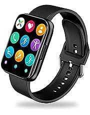 ساعة ذكية S216 تقوم بقياس نسبة الأكسجين في الدم و قياس نبطات القلب وضغط الدم وتنبيهات المكالمات والرسائل متوافق مع Android و IOS لون أسود