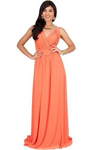 94b60ef45c KOH KOH Plus Size Women Long Sleeveless Flowy Bridesmaids Cocktail Party  Evening Formal Sexy Summer Wedding Guest Ball Prom Gown Gowns Maxi Dress  Dresses