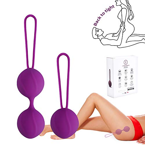 Kegel Balls Exercise Weight for Women Bladder Control Pelvic Floor Exercises Tightening, Silicone Ben Wa Balls Pelvic Weights Training Set for Beginners & Advanced Tightening