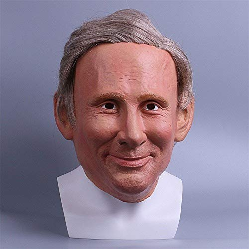 Loune Week Latex Mask Donald Trump Vladimir Putin Obama Mr.Bean PSY Costume Mask Halloween Realistic Latex Masquerade Carnival Mask]()