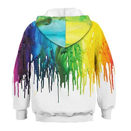 Sudadera capucha 3d Aideaone Boy de Rainbow Sudadera D os con a 16 Girl 6 Y6nZq0xwx5