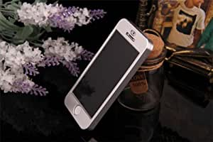 Silver Classic Aluminum Metal Full Body Hard Back Armor Case Cover For apple iphone5/5s