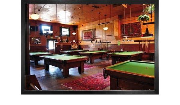 1art1 Billar Póster con Marco (Madera DM) - Pool Saloon (91 x 61cm): Amazon.es: Hogar