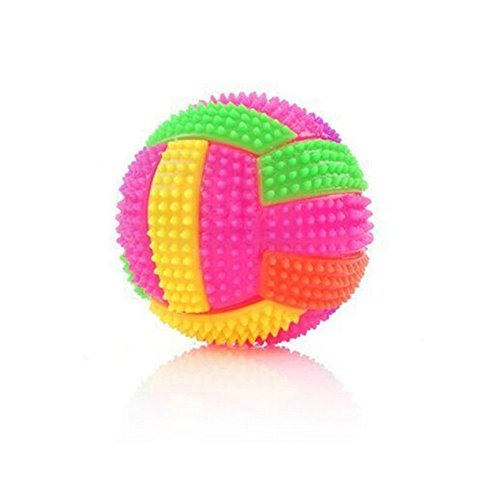 1pcs Colorful Baby Kids Balls Toy - Soft Light-up and Sound Vollerball Bouncing Balls Children Luminous Toy Flashing Party Balls for Boys and Girls Gift