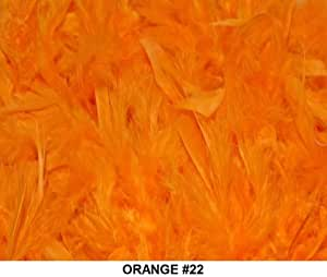 Solid Boas 6 Foot Long 50 Gram in a Variety of Shades Great for Parties, Crafts, and Fun! (Orange #22)