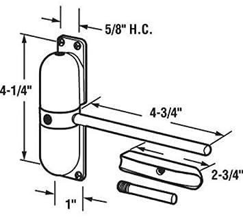 Mini puerta y protector de CierrapuertasCierre de puerta autom/ático white con muelles, montaje en superficie Homy Autom/ática Cierra Puertas