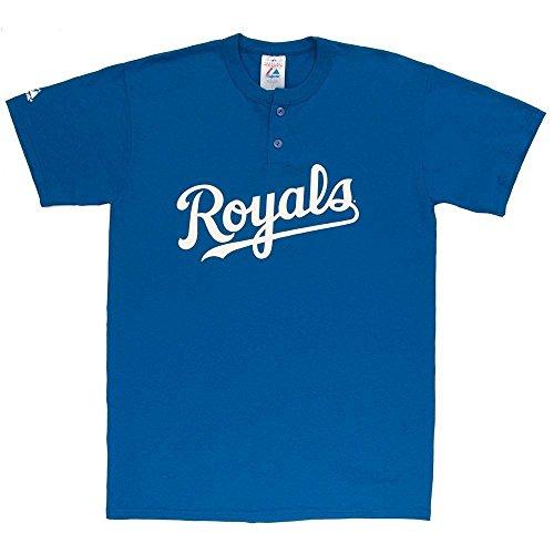 MLB Kansas City Royals Two Button Youth Jersey Shirt Large
