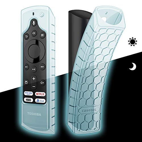 CaseBot Silicone Case for Fire TV Edition Remote – Honey Comb Series [Anti Slip] Shock Proof Cover for Amazon Insignia…