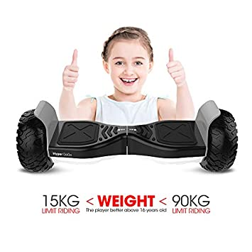 HYPER GOGO Hoverboards Off Road Hover Board,Electric Self Balancing All Terrain Hoverboard with Built-in Speaker and LED Lights – UL2272 Certified