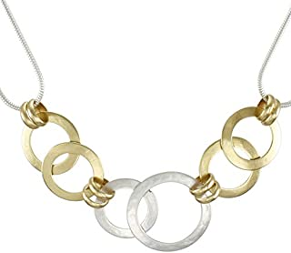 product image for Marjorie Baer Linked Rings Necklace