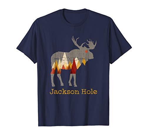Vintage Jackson Hole T-Shirt Wyoming Moose Gift ()