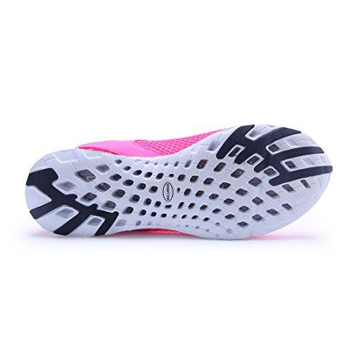 ACHT KM Männer und Frauen Wasser Schuhe schnell trocknend Slip On Aqua Schuhe Rosa