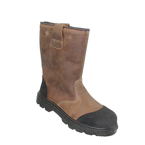 Ergos - Calzado de protección de Piel para hombre Marrón marrón Marrón - marrón