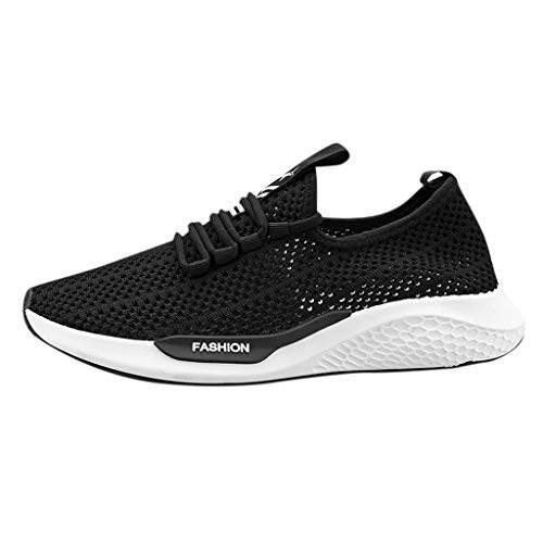 JJLIKER Men's Sneakers Mesh Ultra Lightweight Breathable Athletic Running Walking Gym Shoes Outdoor Casual Shoes ()