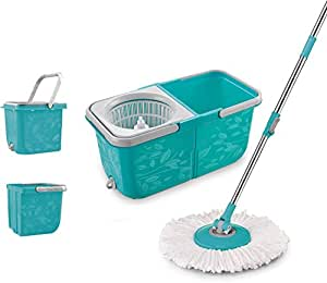 Topmop 2 Compartment Easy Wring Spin Mop And Bucket System