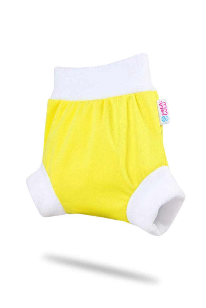 Taille S R/éutilisable /& Lavable /Étanche Fabriqu/é en Europe Culotte de Protection Pull Up Couche Shorty en PUL Petit Lulu Rainbow Couches Lavables Yellow