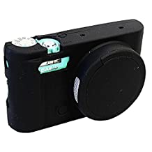 Removable Lens Cover Protective Silicone Gel Rubber Soft Camera Case Cover Bag For Casio ZR3500 Camera Black