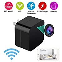 2 in 1 Mini Hidden Spy Camera and USB Charger - Wireless Hidden Camera USB Security Camera Supports 128 GB SD Memory Card 1080 P HD Resolution by MEYUEWAL