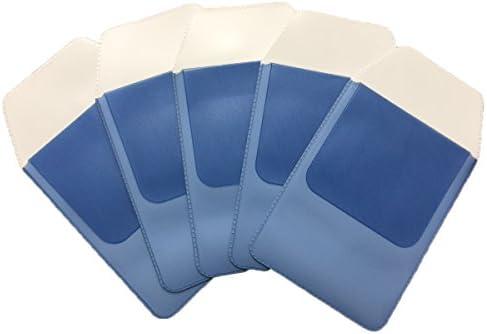 sky voyage (スカイ ボイエッジ) ポケットガード ペンケース ワイシャツ 白衣 ポケット 汚れ防止 5枚セット (ブルー)