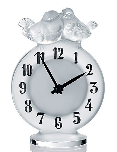 Lalique Clock Antoinette Clear Ref 10066900