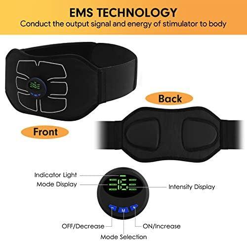 MarCoolTrip MZ ABS Stimulator,Ab Machine,Abdominal Toning Belt Workout Portable Ab Stimulator Home Office Fitness Workout Equipment for Abdomen/Arm/Leg 5