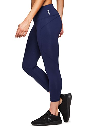 RBX Active Women's Workout Yoga Leggings Power Hold Navy XL