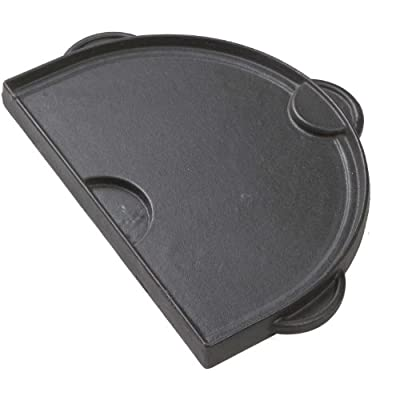 Primo PGS-95-0362 Half Moon Cast Iron Griddle for Oval Junior Grill
