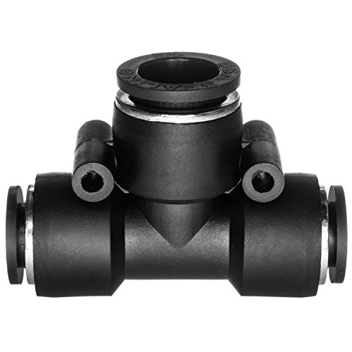 "USA Sealing Push to Connect Tube Fitting - Nylon Plastic - Tee Reducer - 3/8"" Tube OD x 1/4"" Tube OD"