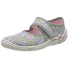 superfit Belinda, Zapatillas de Estar por casa Niños, Gris (Grau 25), 28 EU