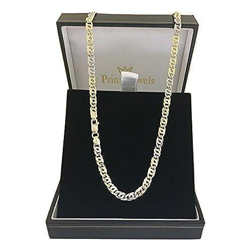 7b5aebe64bbb 80% OFF 14 quilates 585 oro 8 – Cadena unisex Oro Amarillo Oro Blanco