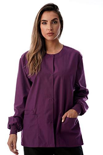Just Love Womens Solid Medical Scrub Jacket 4501-EGG-XL (Nursing Cotton Coat)