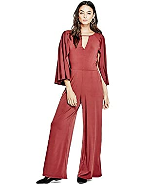 GUESS Micah Wide-Leg Cape Jumpsuit